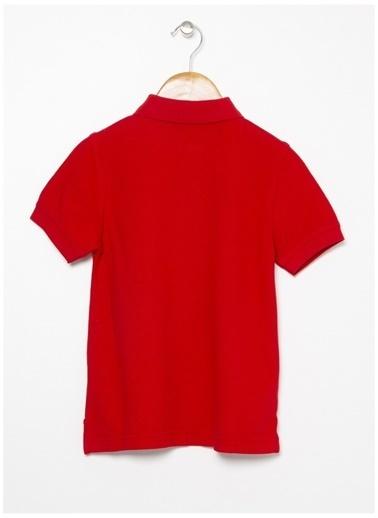 Benetton Benetton Logolu Kırmızı Erkek Çocuk Polo T-Shirt Kırmızı